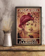 Just A Girl Loves Flamingo 24x36 Poster lifestyle-poster-3