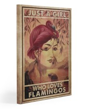 Just A Girl Loves Flamingo Gallery Wrapped Canvas Prints tile