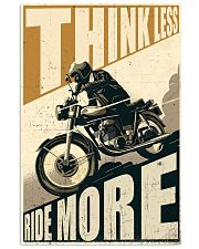 Think Less Ride More 24x36 Poster front