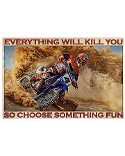 Motorcross On Sand 36x24 Poster front