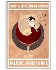 Just A Girl Who Loves Music And Wine  24x36 Poster front
