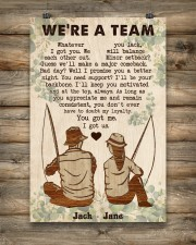 Fishing Couple We Are A Team 24x36 Poster aos-poster-portrait-24x36-lifestyle-14
