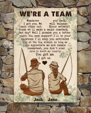 Fishing Couple We Are A Team 24x36 Poster aos-poster-portrait-24x36-lifestyle-16
