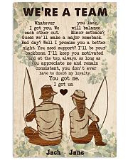 Fishing Couple We Are A Team 24x36 Poster front