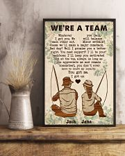 Fishing Couple We Are A Team 24x36 Poster lifestyle-poster-3