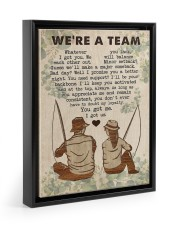 Fishing Couple We Are A Team 11x14 Black Floating Framed Canvas Prints thumbnail