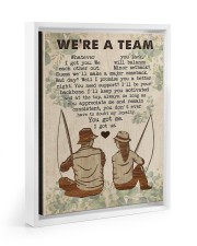 Fishing Couple We Are A Team 11x14 White Floating Framed Canvas Prints thumbnail