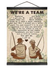 Fishing Couple We Are A Team 12x16 Black Hanging Canvas thumbnail