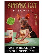 Sphynx Cat We Knead Em 24x36 Poster front
