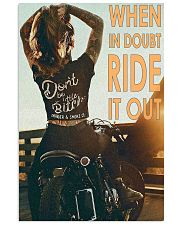 Motorcycle Girl Ride It Out  24x36 Poster front
