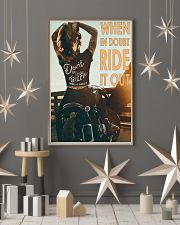 Motorcycle Girl Ride It Out  24x36 Poster lifestyle-holiday-poster-1