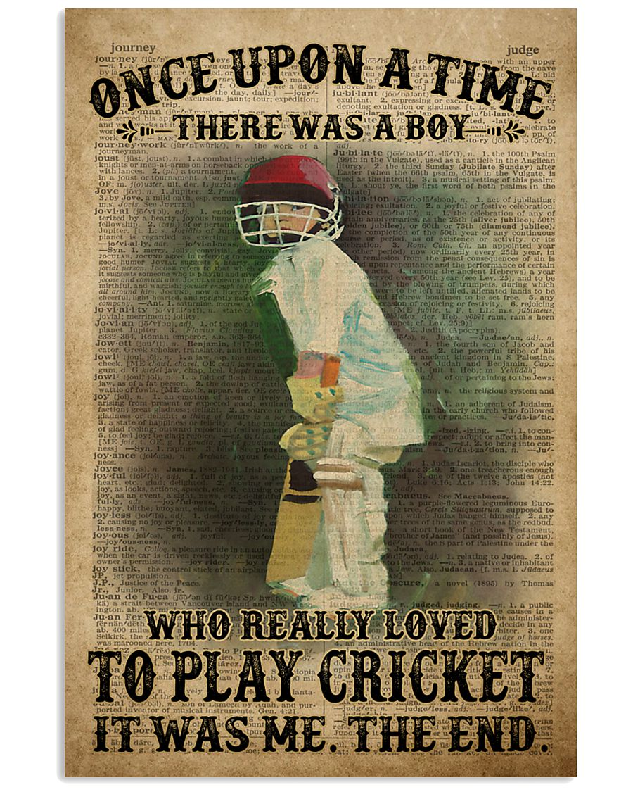 Cricket Boy Once Upon A Time 24x36 Poster