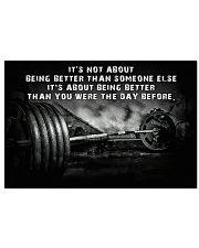 Barbell It's Not About 36x24 Poster front