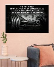 Barbell It's Not About 36x24 Poster poster-landscape-36x24-lifestyle-18