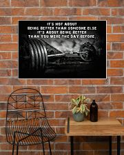 Barbell It's Not About 36x24 Poster poster-landscape-36x24-lifestyle-20