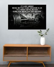 Barbell It's Not About 36x24 Poster poster-landscape-36x24-lifestyle-21