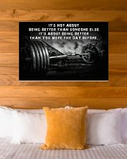 Barbell It's Not About 36x24 Poster poster-landscape-36x24-lifestyle-23