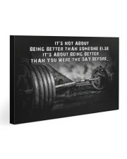 Barbell It's Not About Gallery Wrapped Canvas Prints tile