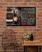 Hot Rod Fire What A Ride  36x24 Poster poster-landscape-36x24-lifestyle-20