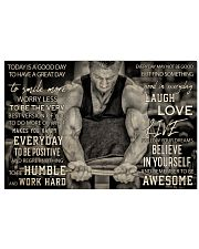 Workout Man Today Is A Good Day 36x24 Poster front