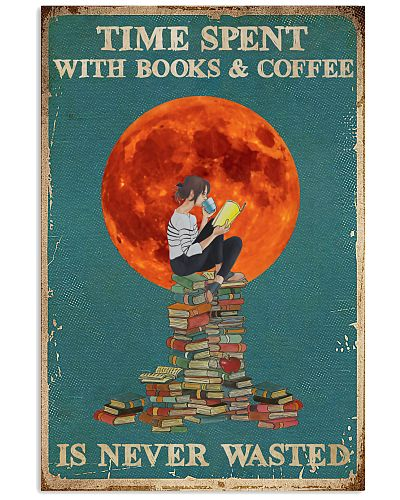 Girl Time Spent With Book And Coffee Red Moon