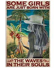 Surfing Some Girls Born With Waves 2 24x36 Poster front
