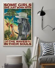 Surfing Some Girls Born With Waves 2 24x36 Poster lifestyle-poster-1
