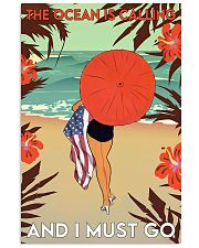 Girl The Ocean Is Calling 24x36 Poster front