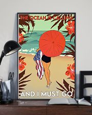 Girl The Ocean Is Calling 24x36 Poster lifestyle-poster-2