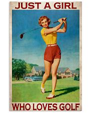 Just A Girl Who Loves Golf Vertical Poster tile