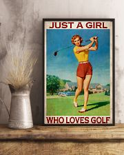 Just A Girl Who Loves Golf 24x36 Poster lifestyle-poster-3