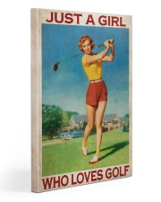 Just A Girl Who Loves Golf Gallery Wrapped Canvas Prints tile