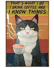 Cat I Drink And I Know Things Vintage 24x36 Poster front