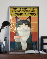 Cat I Drink And I Know Things Vintage 24x36 Poster lifestyle-poster-2