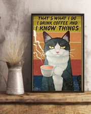 Cat I Drink And I Know Things Vintage 24x36 Poster lifestyle-poster-3