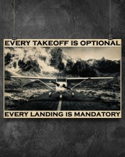 Plane Every Takeoff Is Optional 36x24 Poster aos-poster-landscape-36x24-lifestyle-11