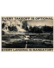 Plane Every Takeoff Is Optional 36x24 Poster front