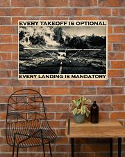 Plane Every Takeoff Is Optional 36x24 Poster poster-landscape-36x24-lifestyle-20