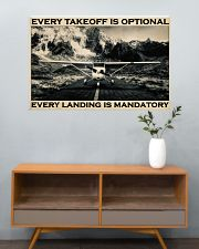 Plane Every Takeoff Is Optional 36x24 Poster poster-landscape-36x24-lifestyle-21