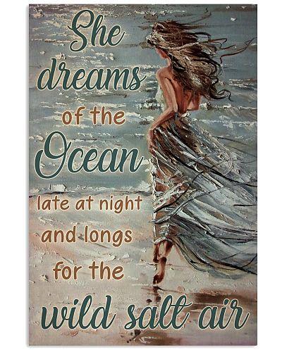 Beach She Dreams Of The Ocean