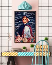 I Am A Nurse Flowers 24x36 Poster lifestyle-poster-6
