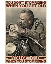 Motorcycle Old Men  24x36 Poster front