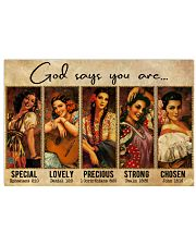 Mexican Girl God Says You Are 36x24 Poster front