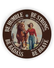 Farm Girl Be Badass Circle ornament - single (wood) thumbnail