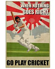 Go Play Cricket WW2 Style 24x36 Poster front