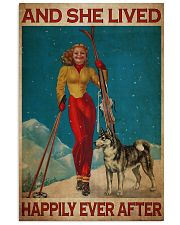 Skiing Live Happily 24x36 Poster front