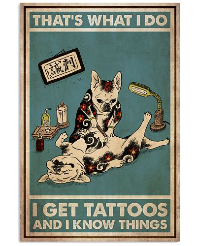French Bulldog Tattoo And I Know Things