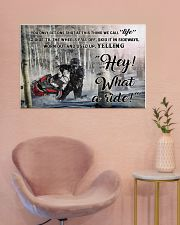 Snowcross I Ride To Feel Strong  36x24 Poster poster-landscape-36x24-lifestyle-19
