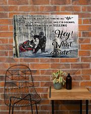 Snowcross I Ride To Feel Strong  36x24 Poster poster-landscape-36x24-lifestyle-20