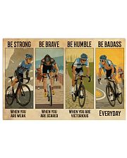Cycling Be Badass Everyday 36x24 Poster front